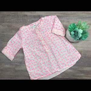 🛍2/$20! Carter's white and pink kitten blouse
